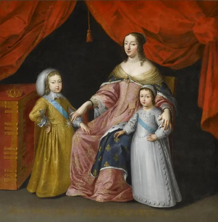 Anne d'Autriche et ses deux fils (anonyme) © RMN-GP (Château de Versailles) / © Gérard Blot
