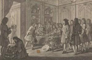 Louis XIV portant sa vaisselle à la Monnaie pour y être fondue - Charles-Edouard Hocquart