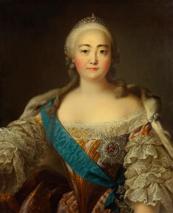Magnifique portrait d'Élisabeth par le célèbre peintre français Louis Tocqué - Galerie Tretiakov - Moscou