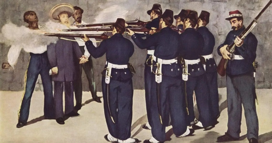 L'éxécution de Maximilien de Habsbourg par Edouard Manet