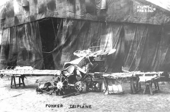Carcasse du Triplan de Manfred von Richthofen