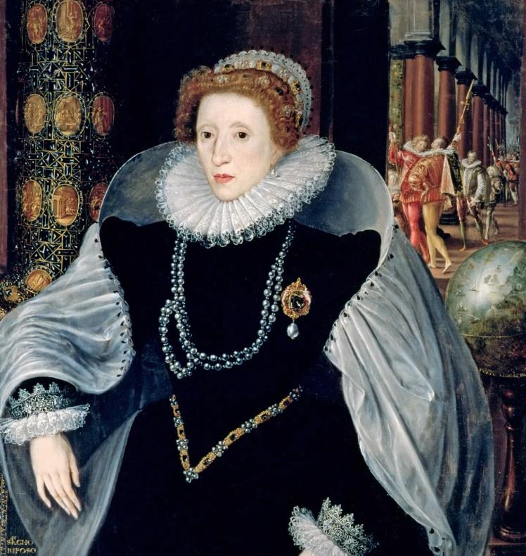Détail d'un portrait d'Élisabeth en Vestale, la vierge Tuccia - 1583 - Quentin Metsys le Jeune - Sienne