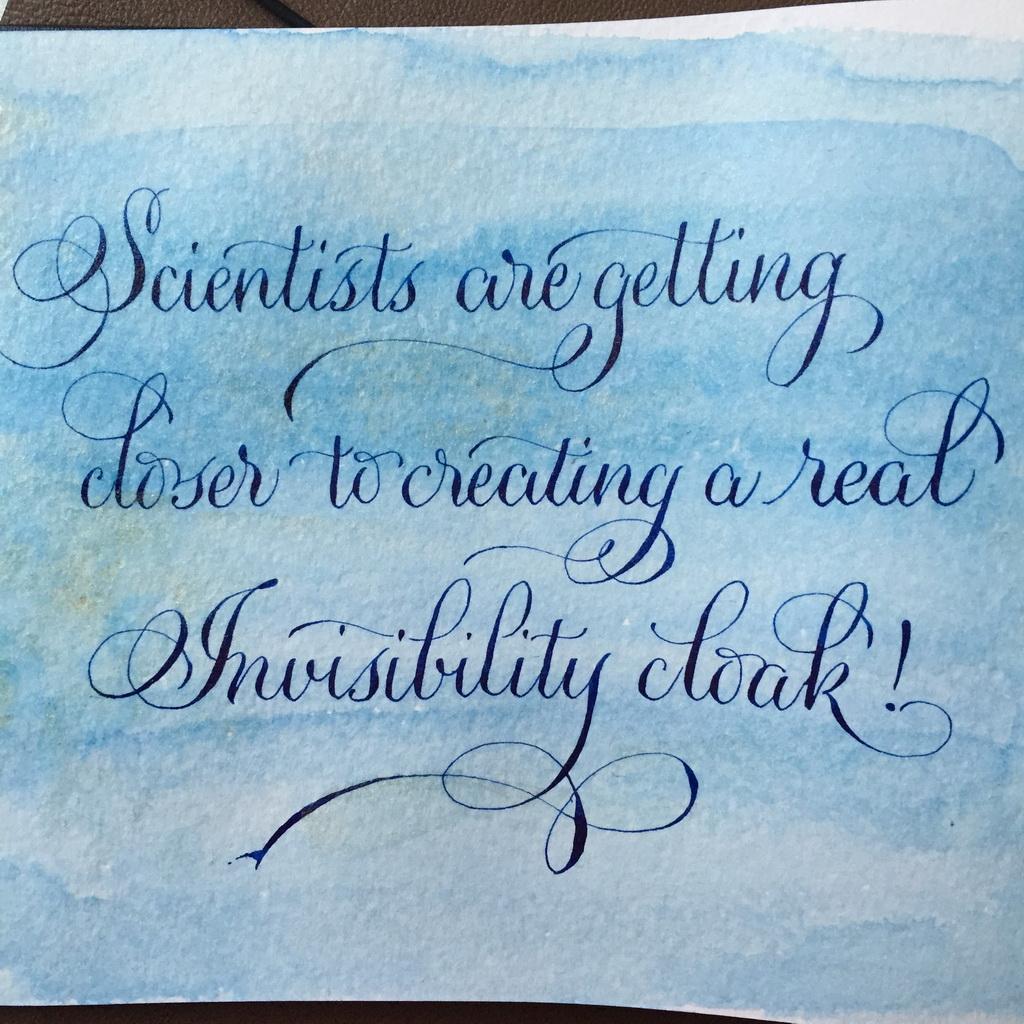 Calligraphie cape d'invisibilite