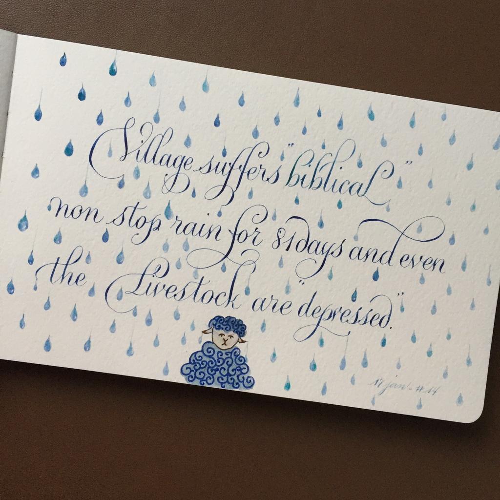 14: Tombe, tombe, tombe la pluie