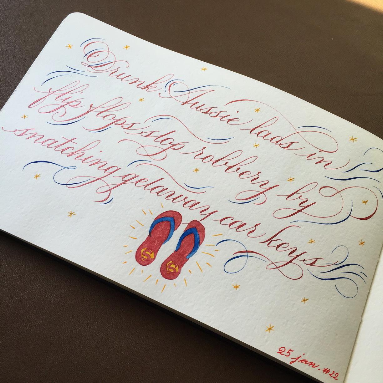 Calligraphie flip flop