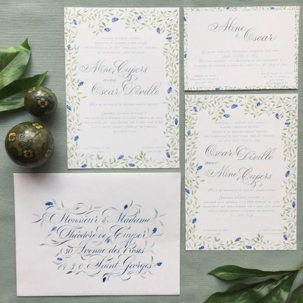 Invitation de mariage printemps sur mesure