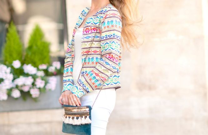 veste colorée