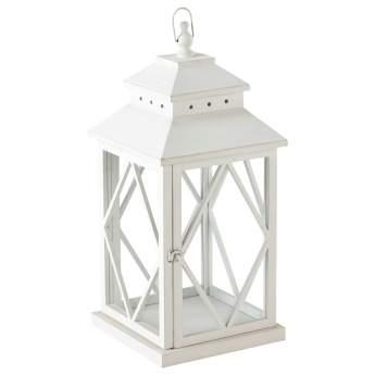 Baltimore Lanterne en bois blanche H 67 cm 69,99 €