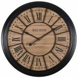 Edvin Horloge en métal noir D.100cm 130€