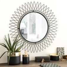 LUGO Miroir soleil en métal noir D66 En stock 36,99 €