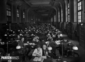 La salle de lecture de la bibliothèque de la Sorbonne