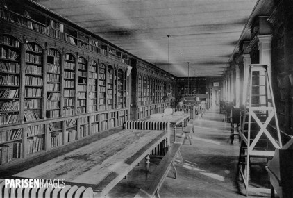 La bibliothèque de l'Ecole Normale Supérieure, rue d'Ulm,