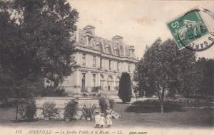 Carte postale du musée d'Abbeville, cachet de poste 1907