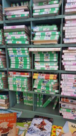 Bibliothèque rose / verte