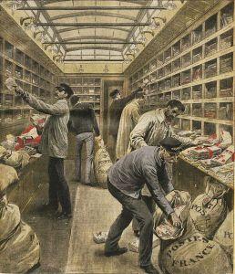 Train postal - Supplément illustré du dimanche du Petit Journal du 28 mars 1909