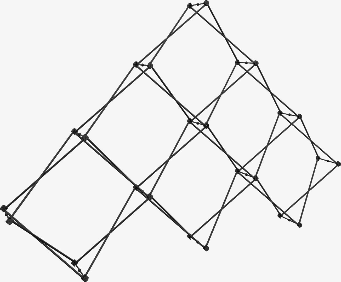 Xclaim 10ft 6 Quad Pyramid Fabric Pop Up Display Frame