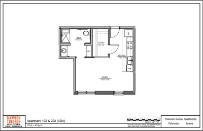 Plummer School Apartment Floor Plans 102 & 202