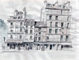 Esquisse - Rue Saint-Antoine - Paris - © Jean-Marc Plumauzille, 2010
