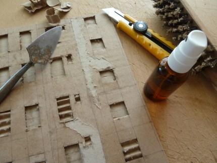Préparation de façade : fenêtres et texture