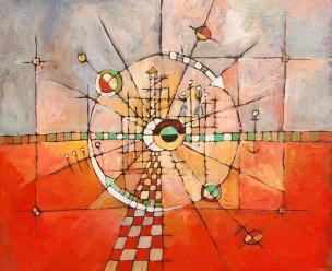 abstrait - acrylique sur toile