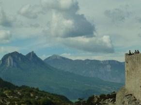 Forteresse de Sisteron - au loin la Roche Impie