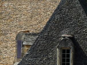 Toit en lauze du château de Marqueyssac