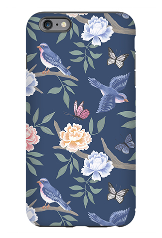 Navy Chinoiserie Phone Case