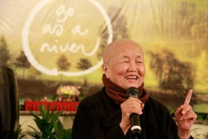 Sister Chan Khong in Indonesia earlier this year.