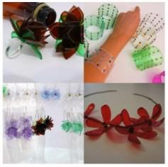 flores con plastico