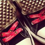 Chicago Blackhawks Custom Studded Converse All Stars