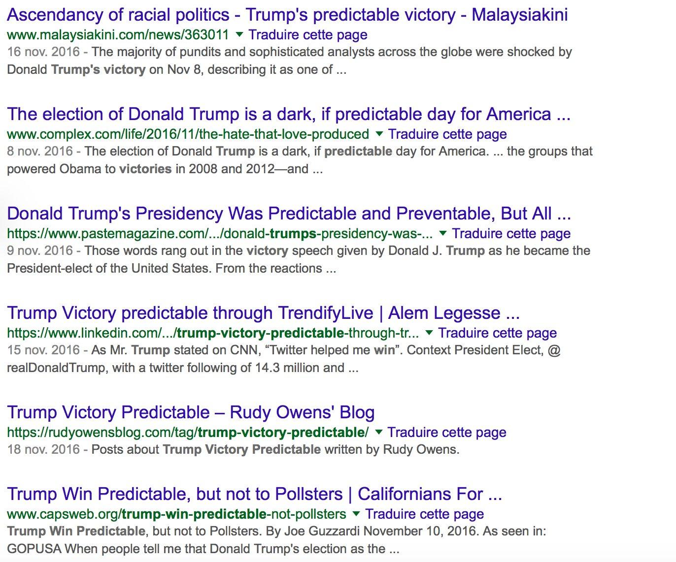 victoire trump prévisible