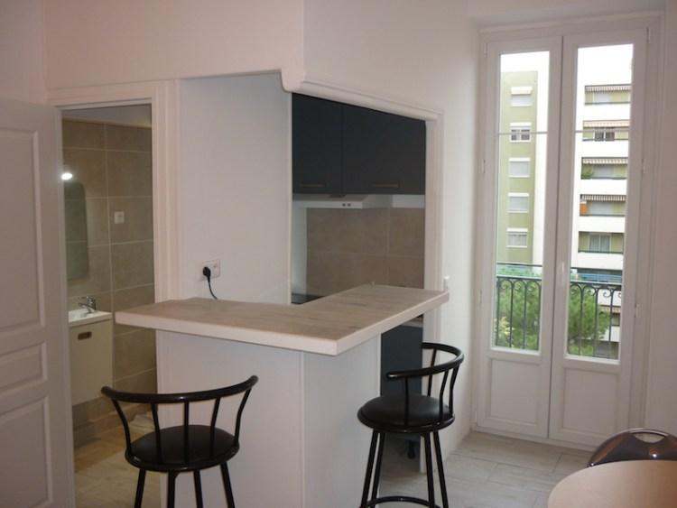 appartement studio après rénovation