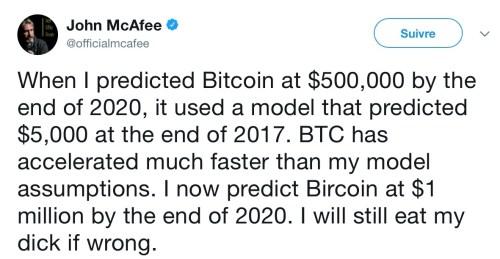 prévisions boursières bitcoin mcafee