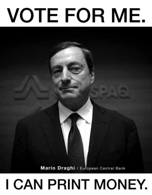 Mario draghi caricature