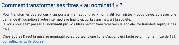 Boursedirect tarifs nominatif