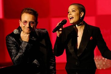 Halsey, Brandon Flowers de The Killers, Bono y más acompañaron a Jimmy Kimmel en su programa a beneficio de la fundación (RED). Cusica Plus