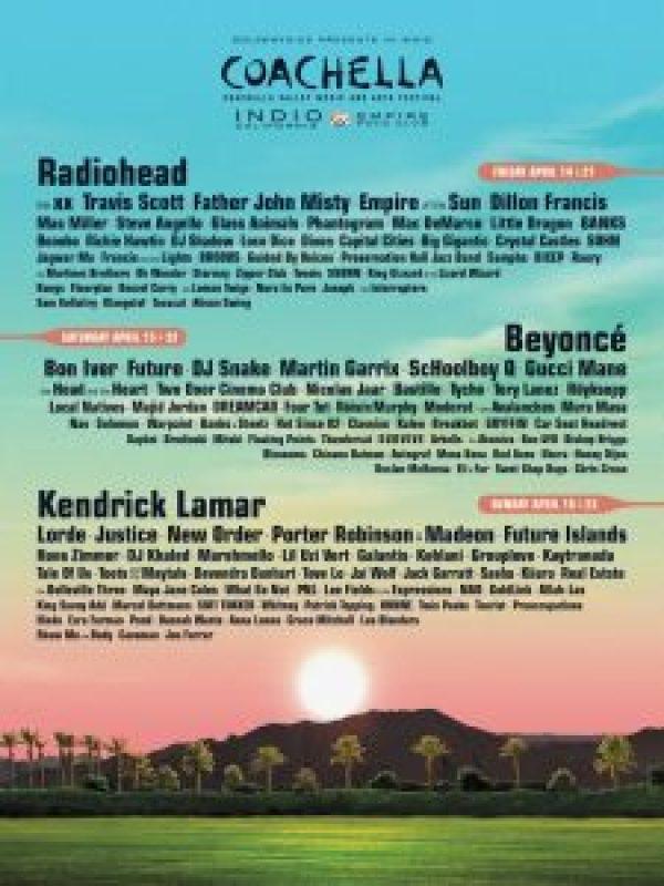 Coachella 2017 Line Up Cusica Plus