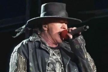 Axl Rose canto en vivo con Billy Joel