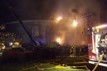 Incendio obligó a desalojar Tomorrowland Barcelona. Cusica Plus.