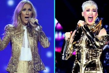 Katy Perry comparte video tras bastidores con Celine Dion. Cusica Plus.
