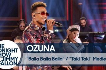 """Ozuna se presentó en el show de Jimmy Fallon para una fusión de """"Taki Taki"""" y """"Baila Baila Baila"""". Cusica Plus."""
