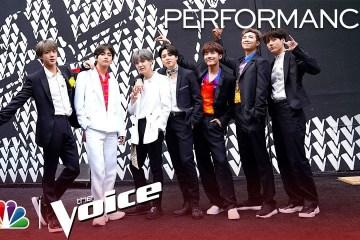 """BTS cantó en vivo """"Boy With Luv"""" en la final del programa 'The Voice'. Cusica Plus."""