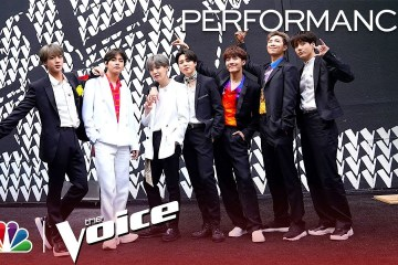 "BTS cantó en vivo ""Boy With Luv"" en la final del programa 'The Voice'. Cusica Plus."