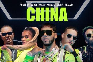 """Anuel AA se une con Daddy Yankee, J Balvin, Ozuna y Karol G para el tema """"China"""". Cusica Plus."""