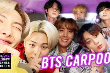 BTS se presentó por primera vez en el Carpool Karaoke de James Corden. Cusica Plus.