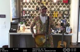 Post Malone realizó tributo a Nirvana, y recaudó fondos para los afectados por la COVID-19. Cusica Plus.
