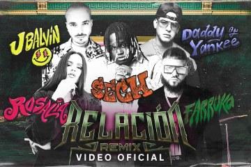 Rosalía, J Balvin y Daddy Yankee, se unen para el remix de 'Relación' de Sech. Cusica Plus.
