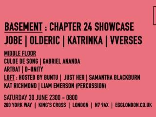 Chapter 24 takeover Egg LDN's Basement for label showcase