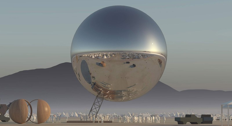Burning Man 2018 will have a 25 meter mirrored sphere