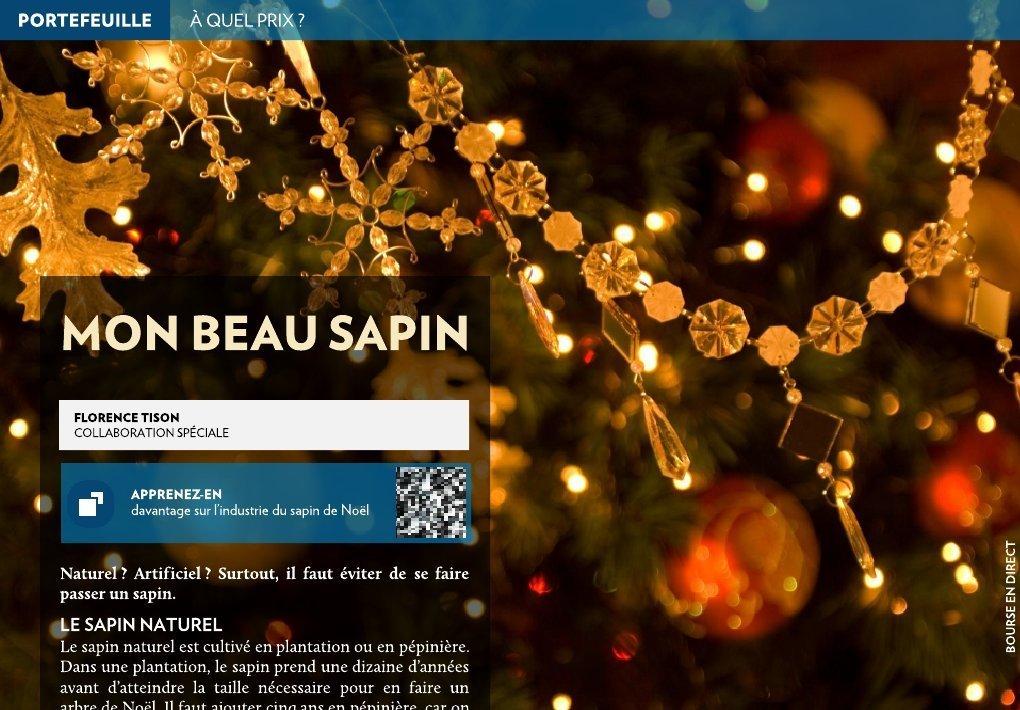 Mon Beau Sapin La Presse